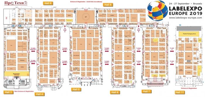 План выставки LabelExpo Europe 2019